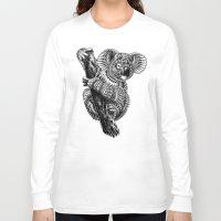 ornate Long Sleeve T-shirts featuring Ornate Koala by BIOWORKZ