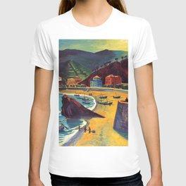 Cinque Terre al Mare Italian Coastline by Hermann Max Pechstein T-shirt