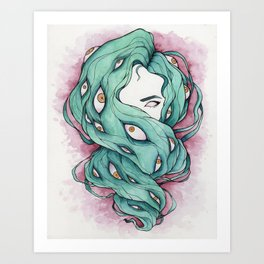 Good Hair Day Art Print