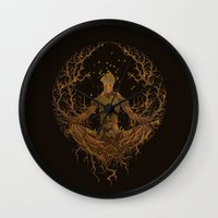 groot Wall Clocks featuring Groot Mandala by Megmcmuffins