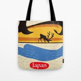 Japan vintage  travel poster. Tote Bag