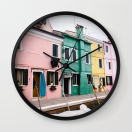 Colorhouse   Italy   travelphotography  fine art   Venice Wall Clock
