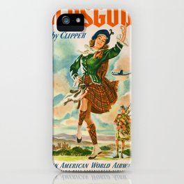 Vintage poster - Glasgow iPhone Case