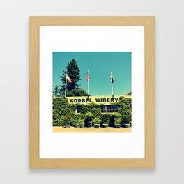 Korbel Winery Framed Art Print