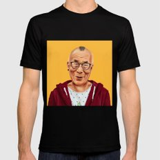 Hipstory -  Dalai Lama LARGE Mens Fitted Tee Black