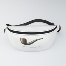 The Treachery of Images by Rene Magritte Fanny Pack