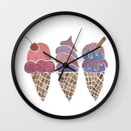 Ice Cream Cones - Group Wall Clock