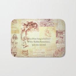 How long is forever? Alice in Wonderland Bath Mat
