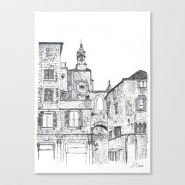Stara Ura The Old Town Clock Canvas Print