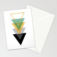 FIVE GEOMETRIC ABSTRACT HOLLOW PYRAMIDS TRIANGLE Stationery Cards
