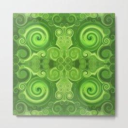 Pattern 37 - Green swirls Metal Print