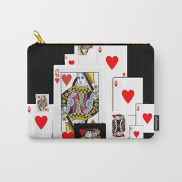 RED CASINO COURT PLAYING CARDS IN BLACK Carry-All Pouch
