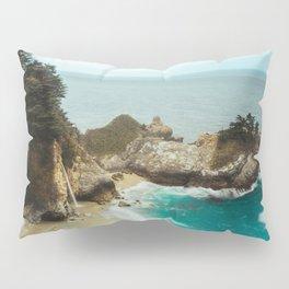 McWay Falls | Big Sur California Waterfall Ocean Coastal Travel Photography Pillow Sham