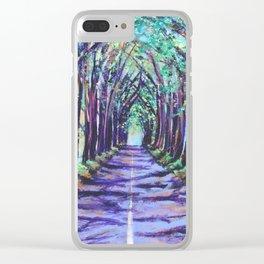 Kauai Tree Tunnel Clear iPhone Case