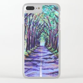Kauai Tree Tunnel Clear iPhone Case