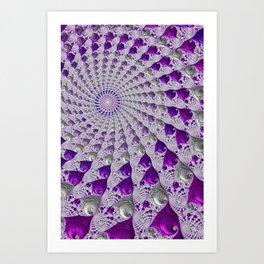 Tunnel Vision Purple Art Print