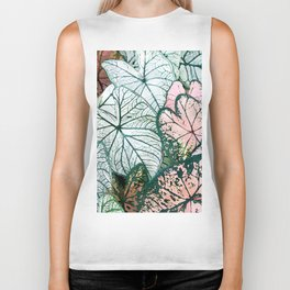 Angel Wings Foliage Biker Tank