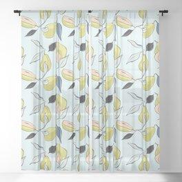 Pears garden Sheer Curtain