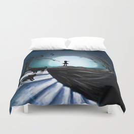 My Part to the Longest Illustration. Duvet Cover