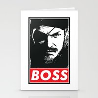metal gear Stationery Cards featuring Big Boss - Metal Gear Solid by TxzDesign
