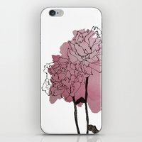 peonies iPhone & iPod Skins featuring peonies by morgan kendall