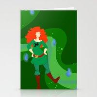 merida Stationery Cards featuring Merida by Eva Duplan Illustrations