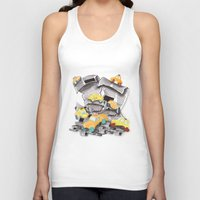 newspaper Tank Tops featuring Newspaper Taxis by Jemma Banks