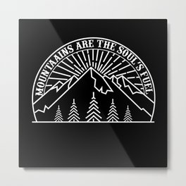 Motivational Hiking Nature Outdoors Gift Metal Print