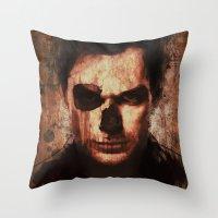 dexter Throw Pillows featuring Dexter by Sirenphotos