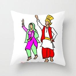 Punjabi couple 1 Throw Pillow