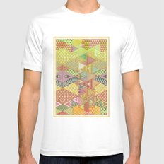 A FARCE / PATTERN SERIES 003 White Mens Fitted Tee MEDIUM