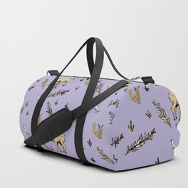 Woodland Creatures from an Imaginary Forest Duffle Bag