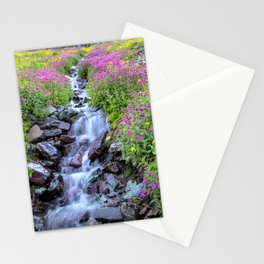 Pink & Yellow Wildflower Waterfall Stationery Cards