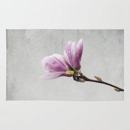 pink magnolia flower Rug