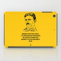tesla iPad Cases featuring Tesla Quote  by Purshue