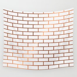 Copper Subway Tiles Wall Tapestry