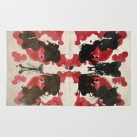 rorschach Area & Throw Rugs featuring Rorschach by ICutThings