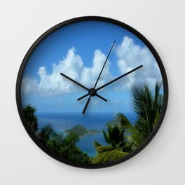Bird View over the Ocean Wall Clock