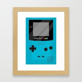 Gameboy Color - Teal Framed Art Print