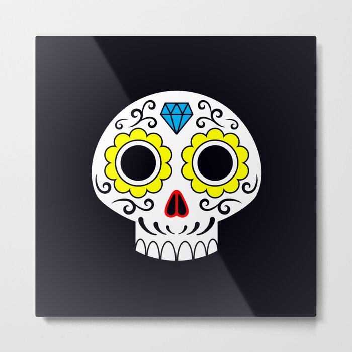 Sugar skull for a cake Metal Print