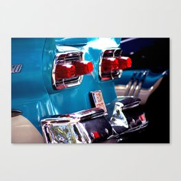 Taillights from a car Canvas Print