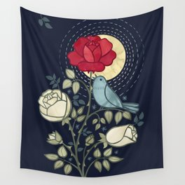 The Nightingale and the Rose Wall Tapestry