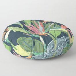 Tropical Bird of Paradise Floor Pillow