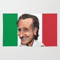 world cup Area & Throw Rugs featuring  Cesare Prandelli World Cup by Michael Paci
