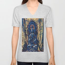 Glass temple of Marcy  Unisex V-Neck
