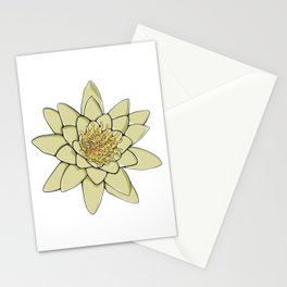 Nenuphar White Water Lily Flower Stationery Cards