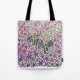 Vanishing Bee by Black Dwarf Designs Tote Bag