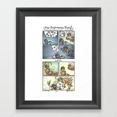 The Depression Fairy Framed Art Print