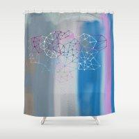 transparent Shower Curtains featuring transparent cloud by Bunny Noir