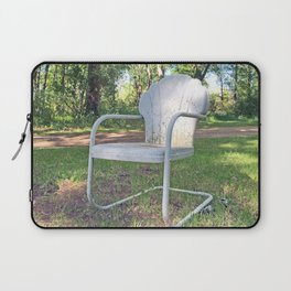 Vintage Chair by the Road Laptop Sleeve
